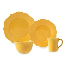 Misto Baroque Yellow Dinnerware only the salad plates bb