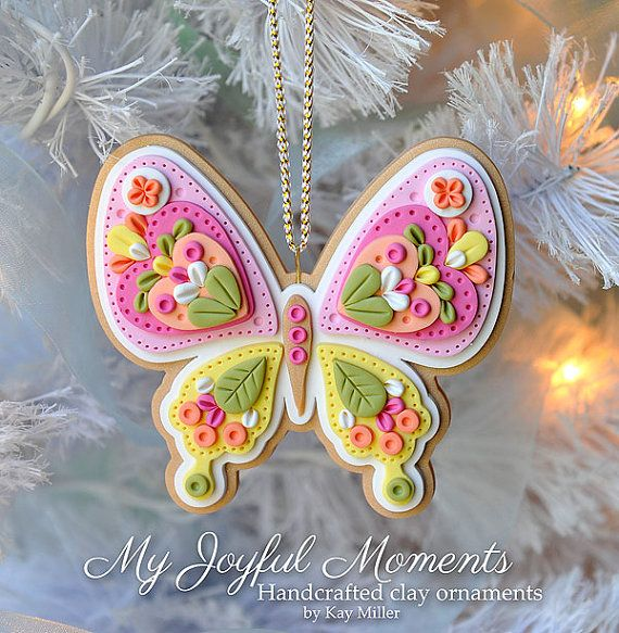 Handcrafted Polymer Clay Ornament by MyJoyfulMoments
