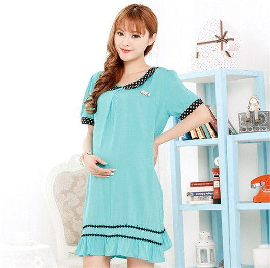 2014 Maternity Chiffon Dresses Summer Maternity Clothing Pregnant Women Clothes Big  Size Maternity Fashion Dress 2 colors