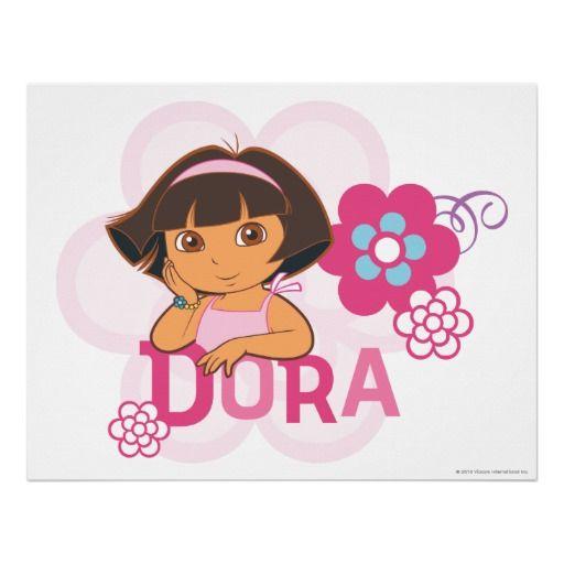 Dora The Explorer - Dora with Flowers Posters