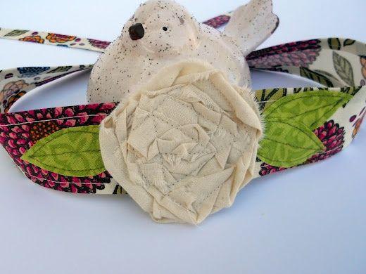 fabric headbands patterns | Fabric flower headband pattern | diy creations
