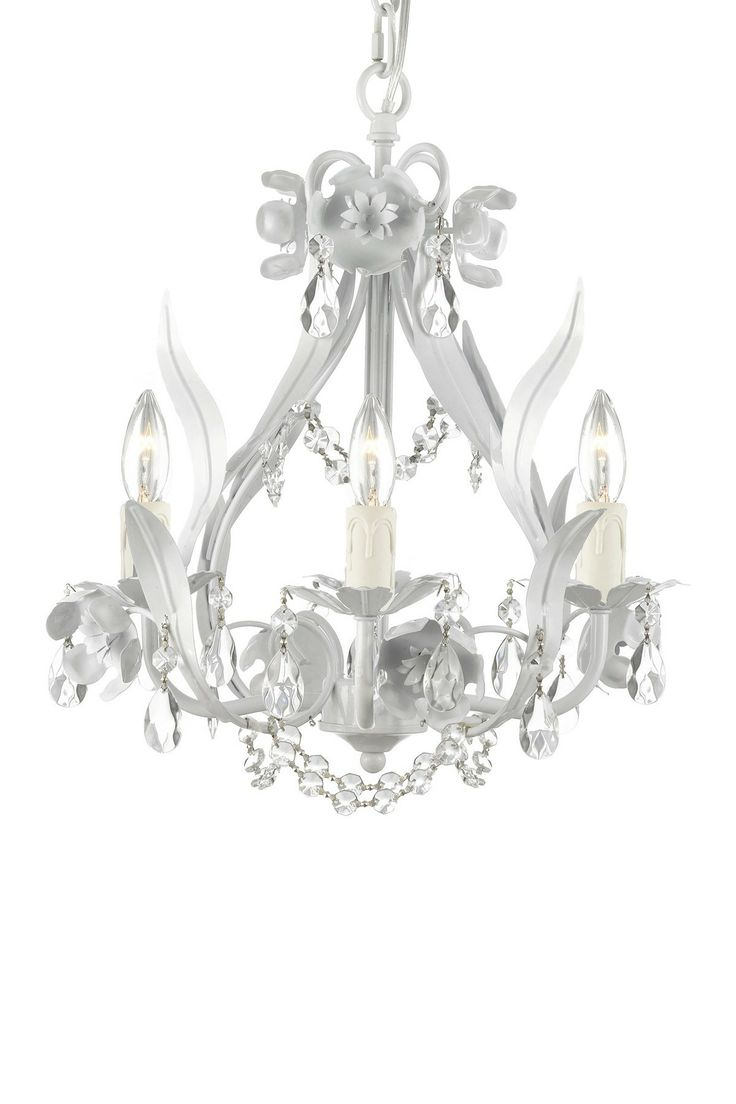 529 best lighting images on pinterest chandeliers pendant lamps wrought iron and crystal white floral chandelier arubaitofo Images