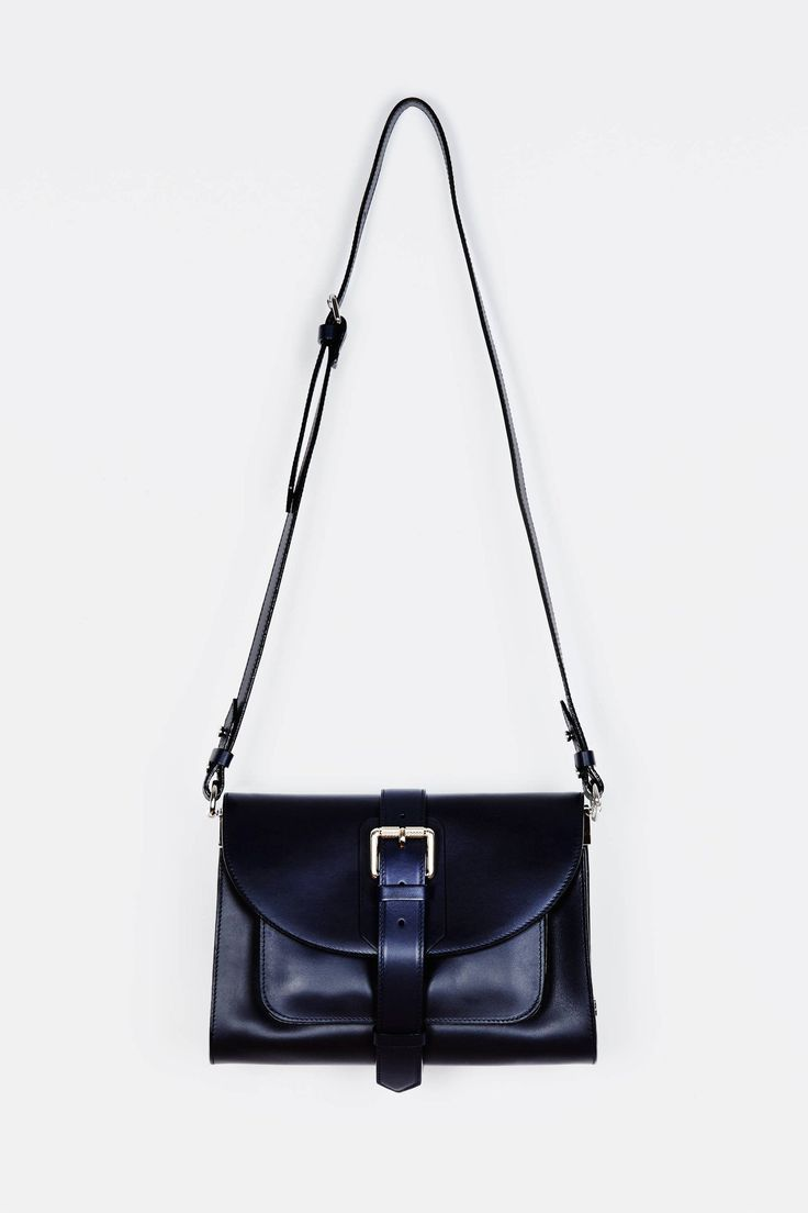 Buckle Bag Cross Body - Blue