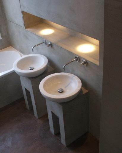 Meer dan 1000 idee n over betonnen douche op pinterest badkamer betonnen meubilair en douche - Beton muu room in ...