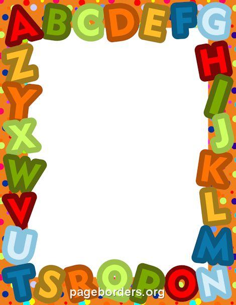 Alphabet Border