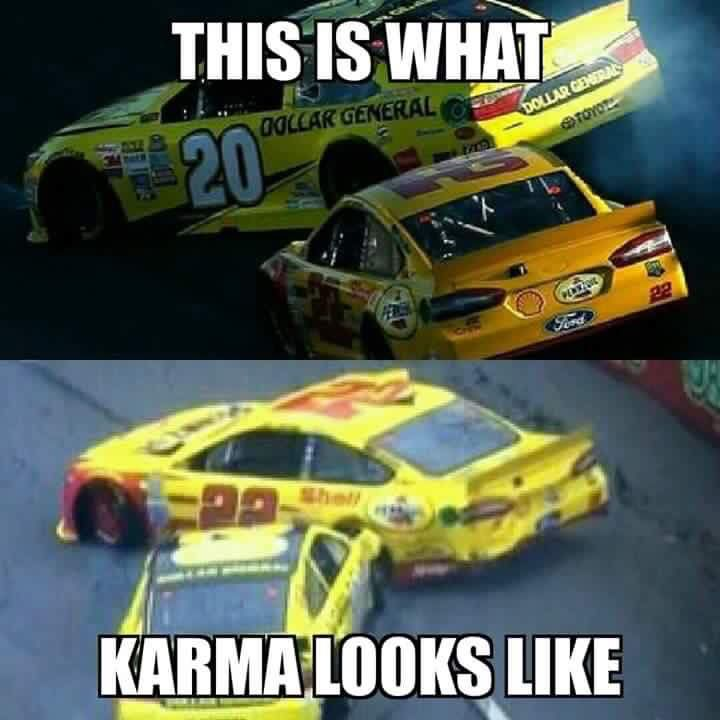 Matt taking out Joey was the greatest moment of the season besides Kyle Busch winning the championship
