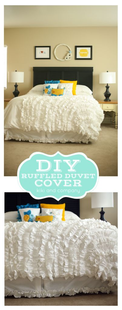 DIY Ruffled Duvet Cover from kiki and company