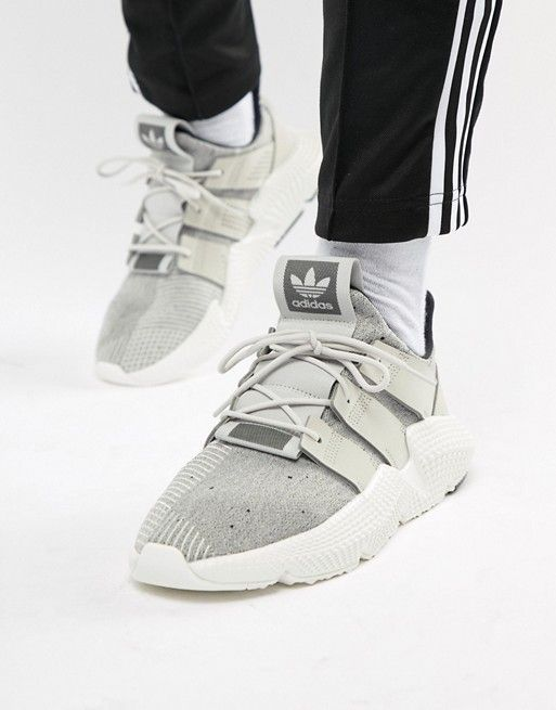 68f714e73c2a1 adidas Originals Prophere Sneakers In Gray B37182 in 2019