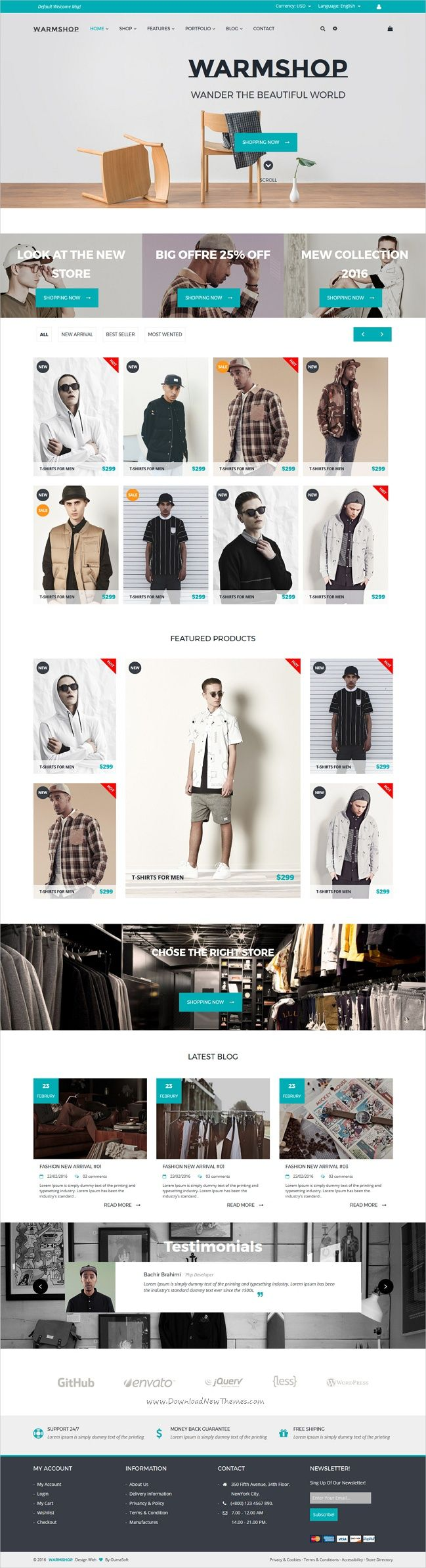 warmshop is a minimal design 3in1 responsive html5 bootstrap template for modern ecommerce