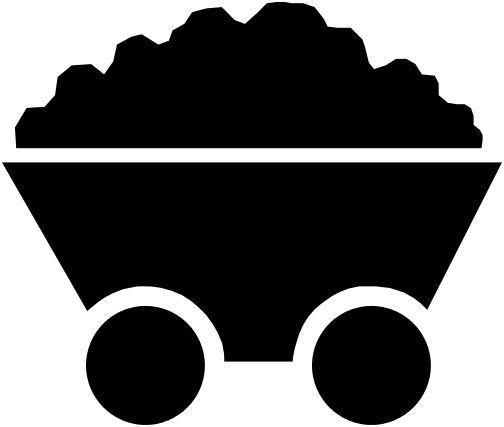 Coal Cart Silhouette פוסטר Coal Miners Mine Cart