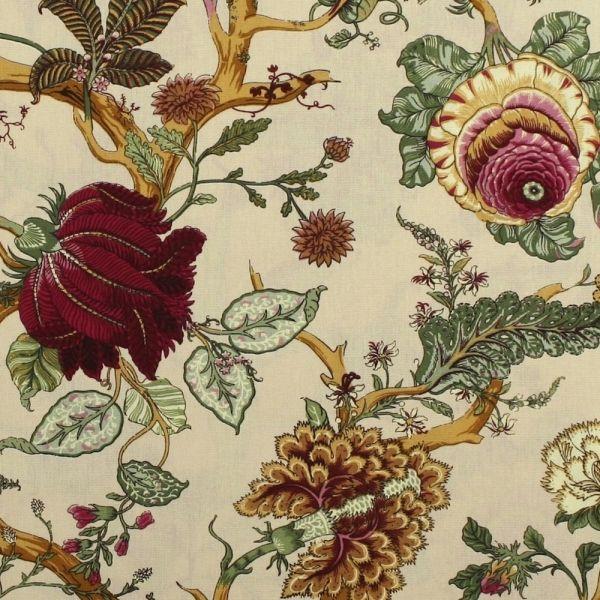 Franzosischer Stoff Villars Multi Beige Arte Fresca Tapeten Dekostoffe Polsterstoffe