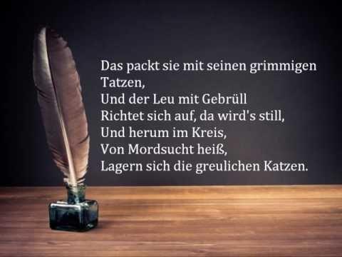 Friedrich Schiller: Der Handschuh - Mit Text!!! - YouTube