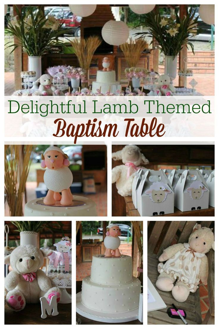 A lamb themed party is beautiful for a baptism party, baby shower or first birthday. With natural and delicate styling this is a sweet party idea.