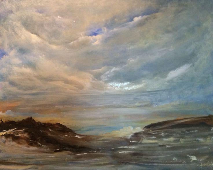 Seascape in Acrylic 73x92cms canvas Lynne Bishop