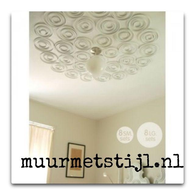 Muurdecoratie kan ook aan het plafond!!