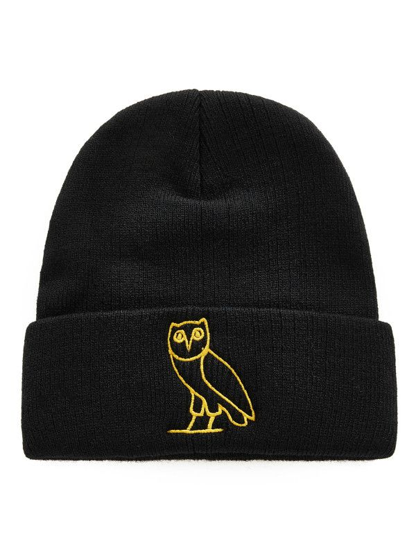 Embroidered Owl Beanie Hat -SheIn(Sheinside)