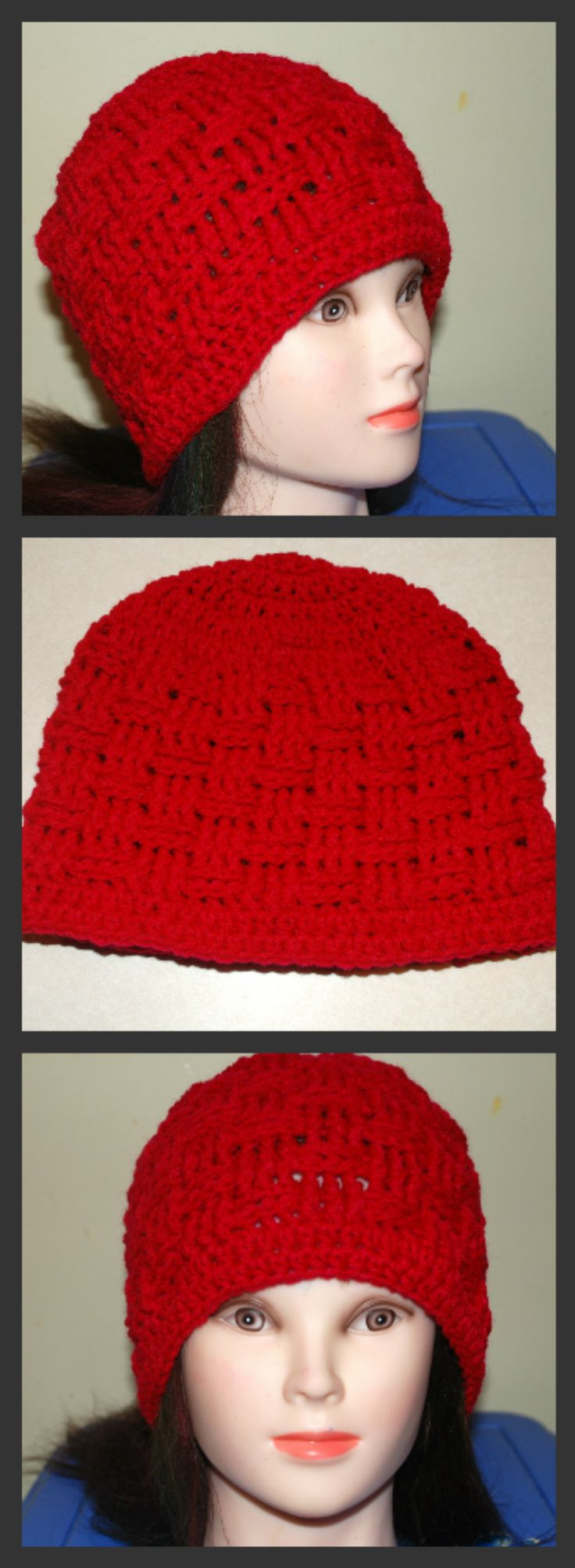 Basket Weave Hat Pattern Free : Crochet basket weave hat all sizes if you tell others