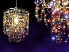 1pcs Multicoloured Chandelier Gypsy Crystal Lamp Ceiling Lighting Pendant Light