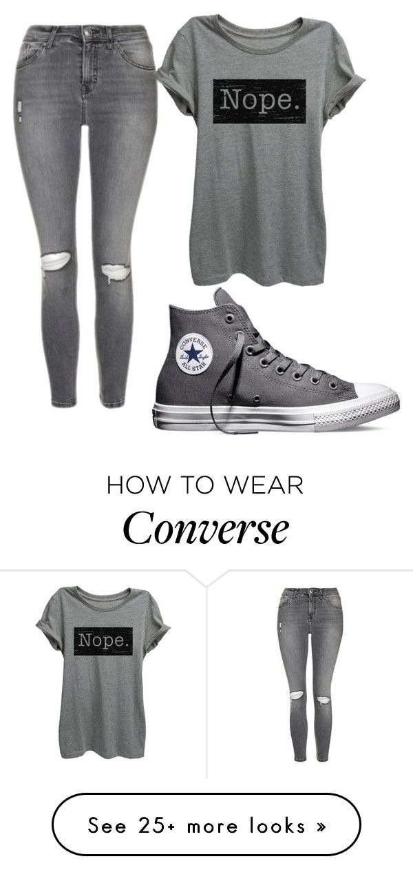 """Untitled #475"" by elizabethduff on Polyvore featuring Topshop and Converse"