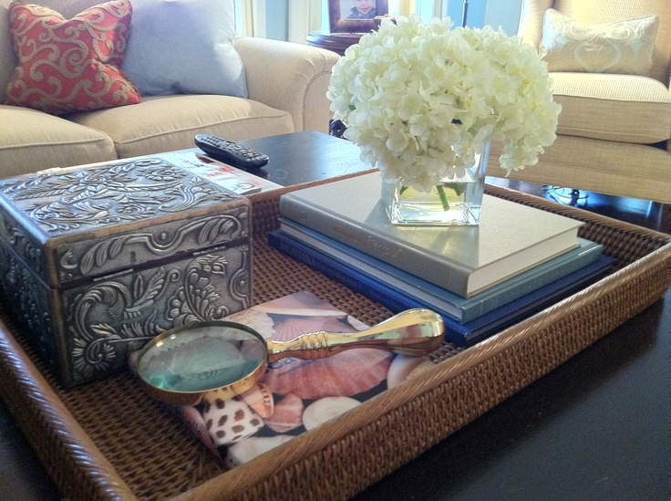 Tray Arrangement For Coffee Table Misc For The Home Pinterest Trays Coffee And Living