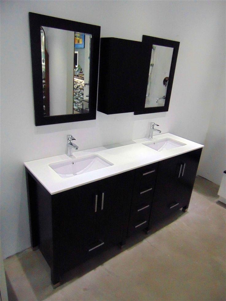 "Anziano 72"" Espresso Double Sink Vanity"