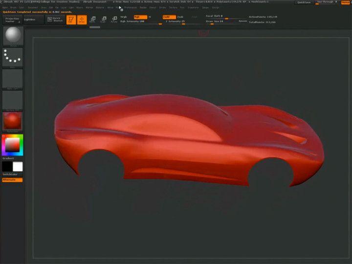 Car Design Process Using Maya And Zbrush By David Bentley Part 2