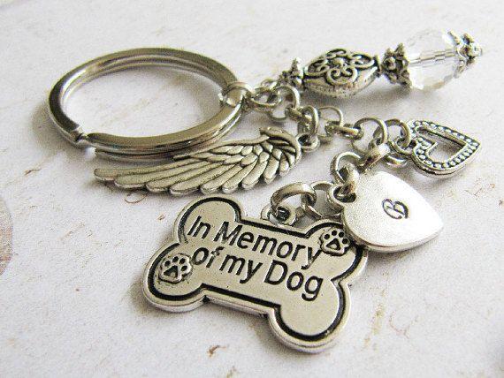 In Memory Of My Dog keychain memorial pet door romanticcrafts