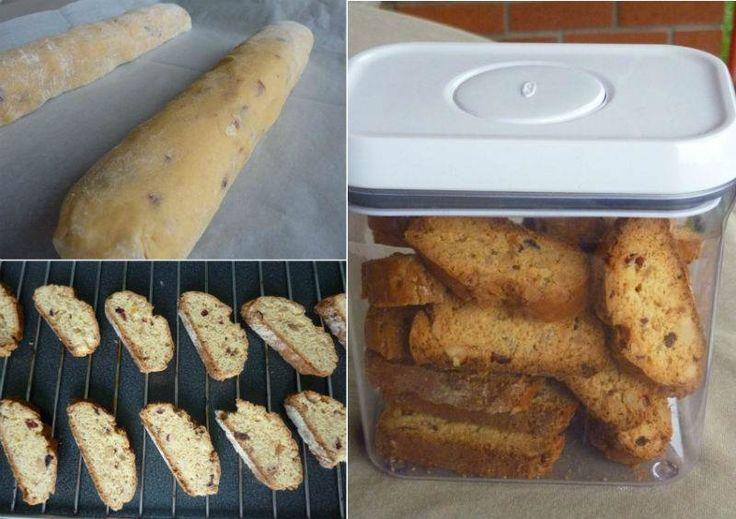 Kuru Meyveli ve Bademli Biscotti                        -  Esra Özkutlu #yemekmutfak