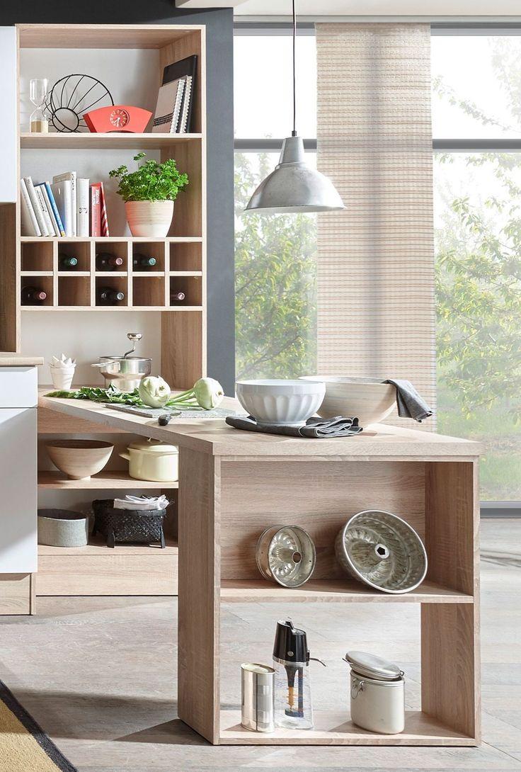 tisch mit regal sonoma eiche weiss woody 32 00248 holz modern jetzt bestellen unter - Esszimmer Modern Weiss