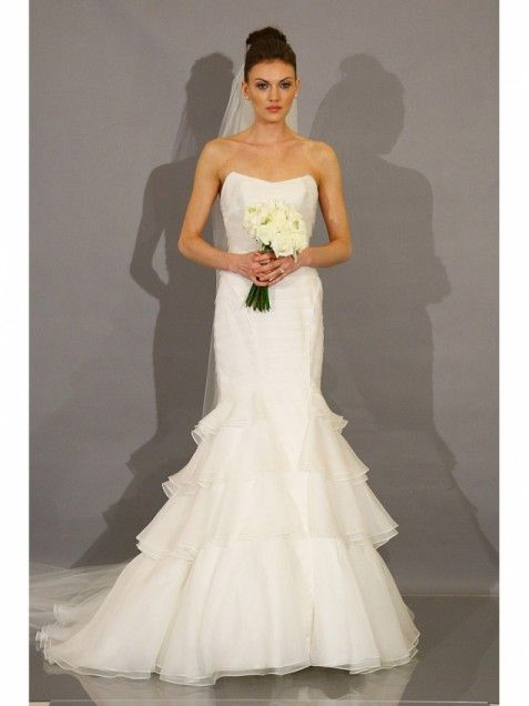 Wedding dress from the THEIA collection on the runway during the Fall 2012 New York Bridal Week