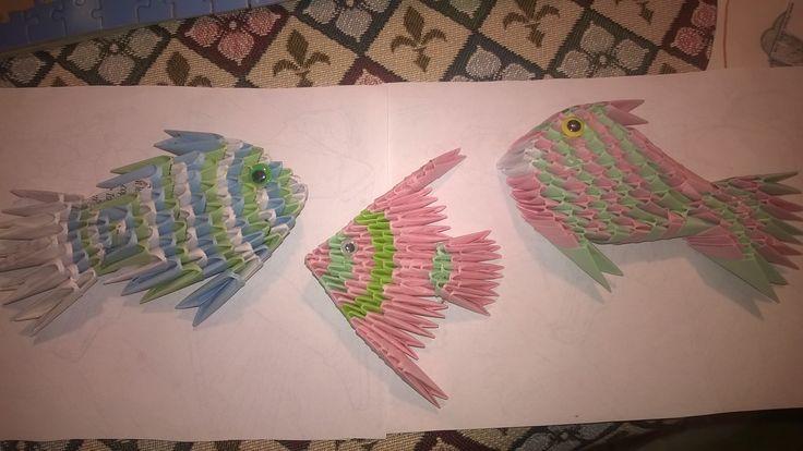 3d origami  pesci
