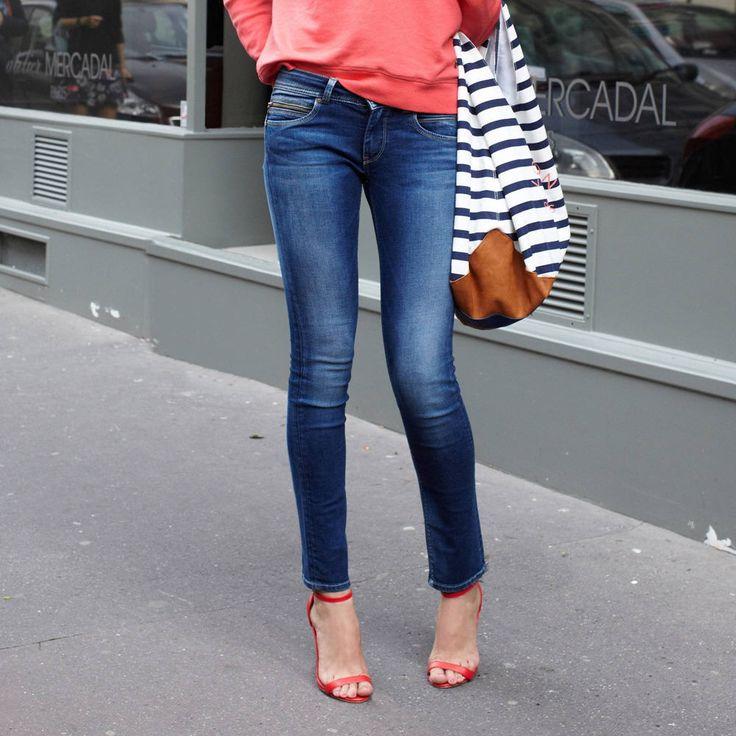 Jean slim femme New Brooke PEPE JEANSt prix promo Jeans Femme 3 Suisses 105.00 €