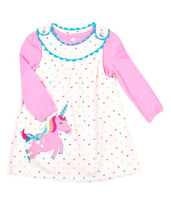 cc407a494fac Take a look at this Ivory Unicorn Corduroy Jumper Set - Toddler & Girls  today!