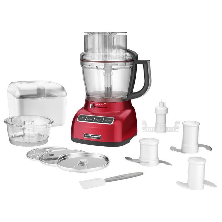 KitchenAid 13-cup die-cast food processor architect series candy apple red - **75$ mail in rebate** (April 5 - May 16)