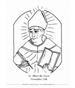 St. Albert the Great coloring sheet via Farmer's City Wife
