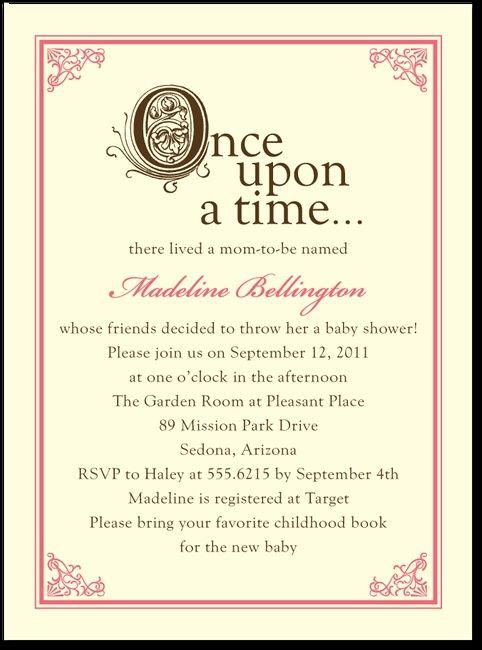Storybook Start:Medium Pink - Baby Shower Invitation Idea