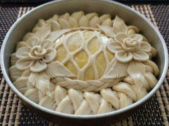 Оформление пирогов и булочек
