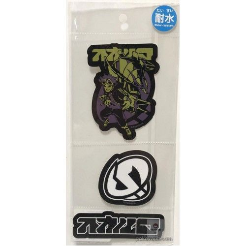 Pokemon Center 2018 Rainbow Rocket Campaign Team Skull Guzma Golisopod Set Of 3 Large Waterproof Stickers