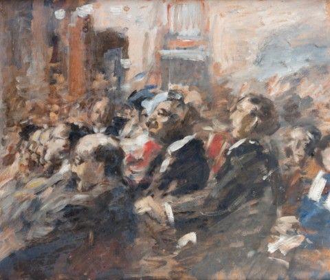 Sterl Roman Hermann (1867–1932)   Na koncertě   Aukce obrazů, starožitností   Aukční dům Sýpka