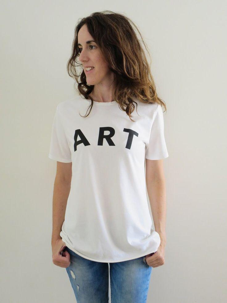 Raw Luxury. Women's Art tee - white. www.rawluxury.com.au