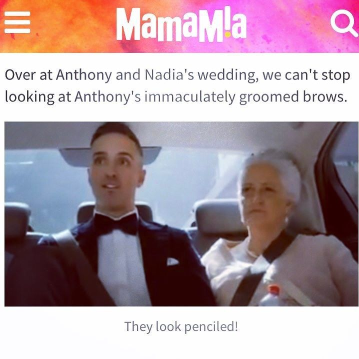 Yes this is my handiwork! Anthony's brow artist/sister. @marriedau @mamamiaaus #teamanthony #perfectlygroomed #manbrows #mansculpting #browstylist #mayaorganicbeautytherapy #nowra #marriedatfirstsight #anthonyandnadia #nowransw #browartist #tvbrows #mangrooming #eyebrowshaping #browsarelife #browneyes #motherandson Perfect weather for a facial book in today or tomorrow spaces available.