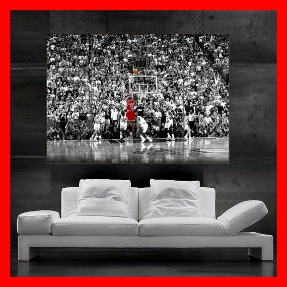 Huge Michael Jordan 23 poster wall art print photo dunk basketball bulls retro jump giant on Etsy, $19.75