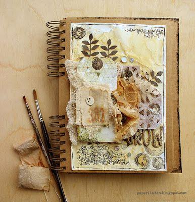 Riikka Kovasin - Paperiliitin: Grow, a tea journal - Craft Stamper