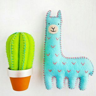 These lil' felt friends. | 23 Things You Need If You're Obsessed With Llamas