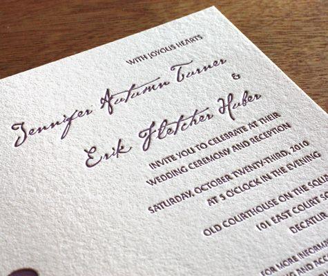 Wedding Invitation Etiquette: Wording Including Parents' Names in the Invitation | letterpress wedding invitation blog