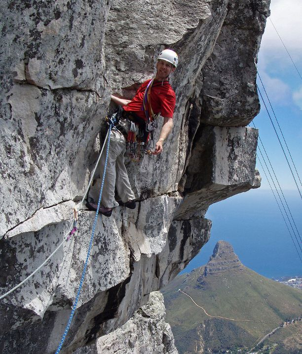 For the adventurous traveller: Rock climbing on Table Mountain, Cape Town, South Africa