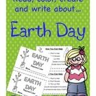 Earth Day Activities Include  * Copy,Cut, Read and Color Informational Book with bold words, a glossary and response page  * Earth Day Facts Writin...