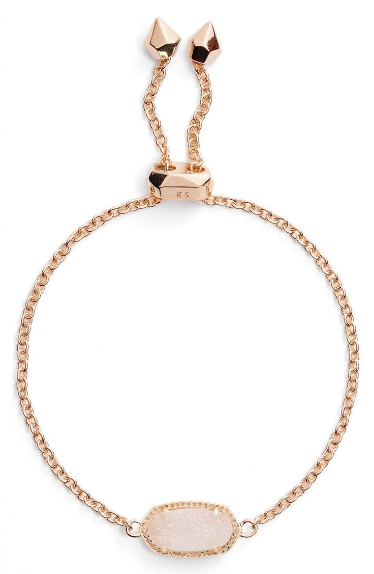 Absolutely adoring this Kendra Scott bracelet with a slider that makes it easy to create the perfect fit.