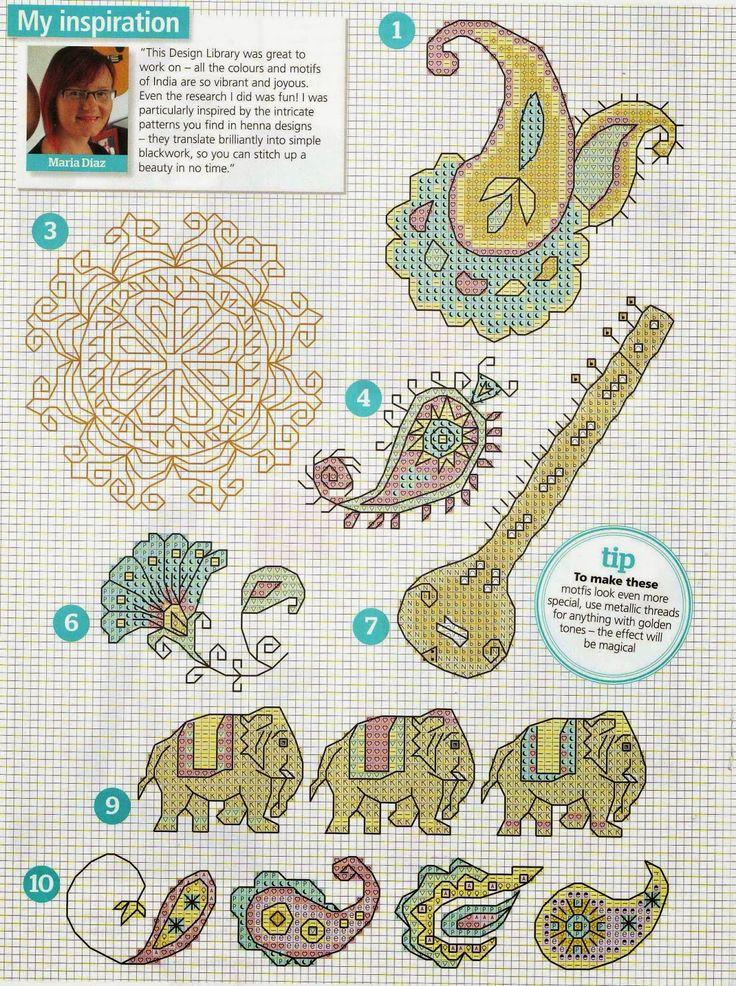 GRAFICOS PUNTO DE CRUZ GRATIS : ARABE Y INDIA(10) Más