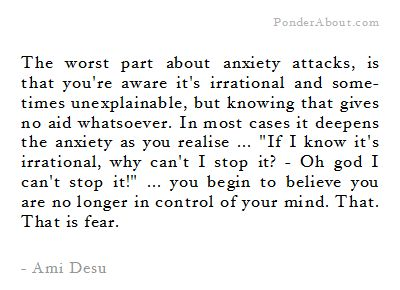 Am I going crazy? (one of the main thoughts that causes my anxiety attacks)
